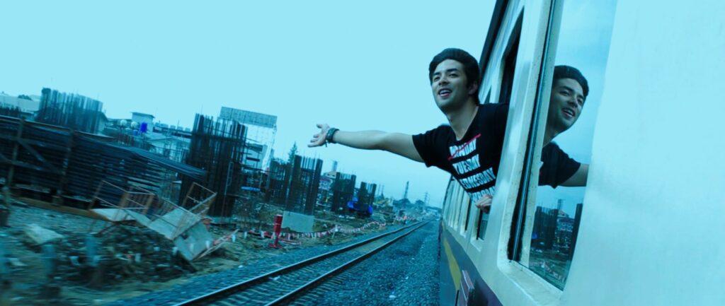 paul inside train