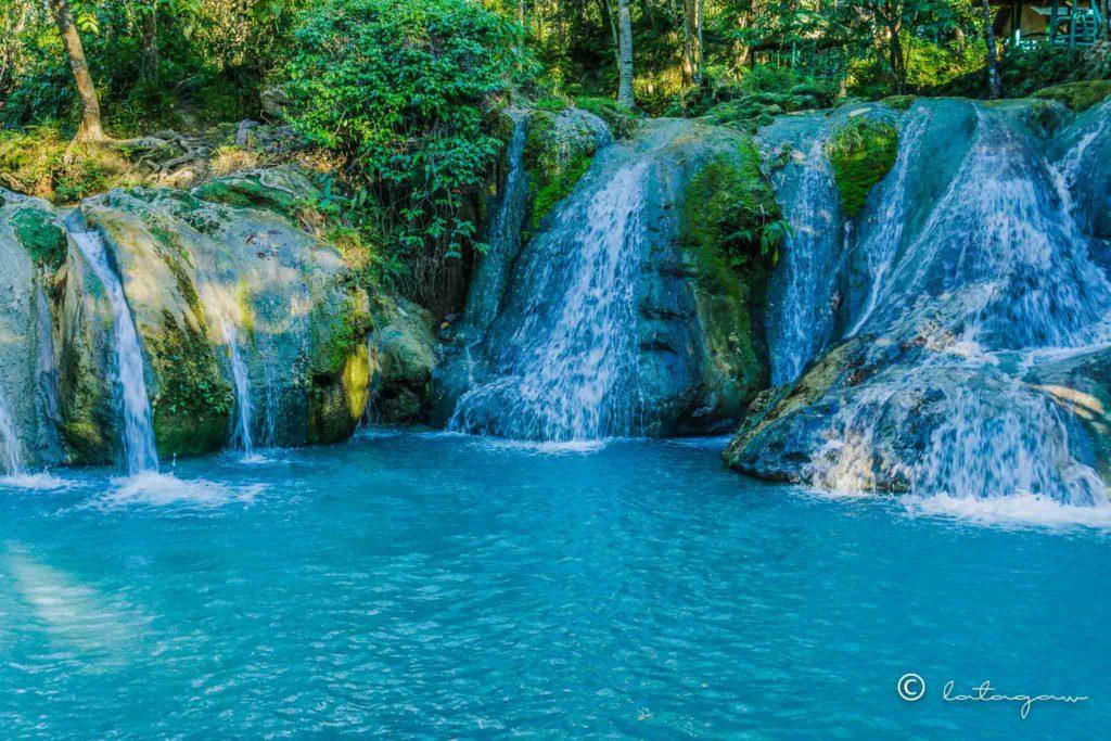 pool of cold water of hagimit falls in island garden city of samal davao del norte
