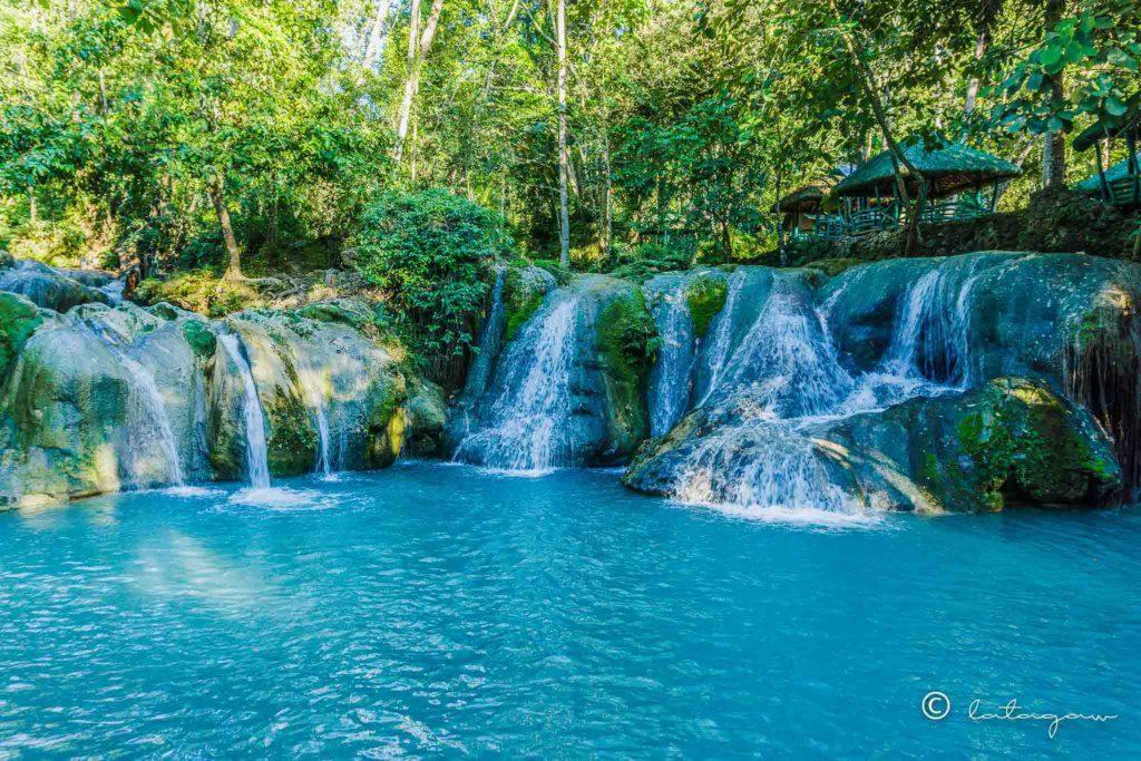 hagimit falls located in island garden city of samal davao del norte